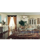 French Provincial Luxury Antique Dining Room Set