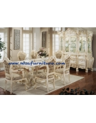 French Antique Dining Room Set furniture NFDS23