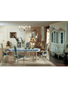 French Italian Luxury Antique Dining Room Set Furniture NFDT03